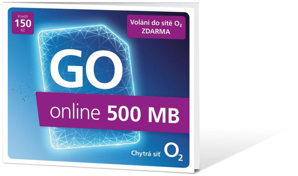 O2 Předplacená karta Go Online 500 MB