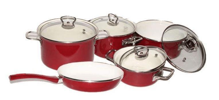 Belis Sada smaltovaného nádobí Eco-ceramic 5 dílů