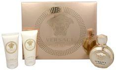 Versace Eros Pour Femme - woda perfumowana 50 ml + mleczko do ciała 50 ml + żel pod prysznic 50 ml