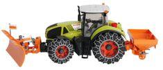 BRUDER 01174 - Claas Axion 950 traktor z odśnieżarką