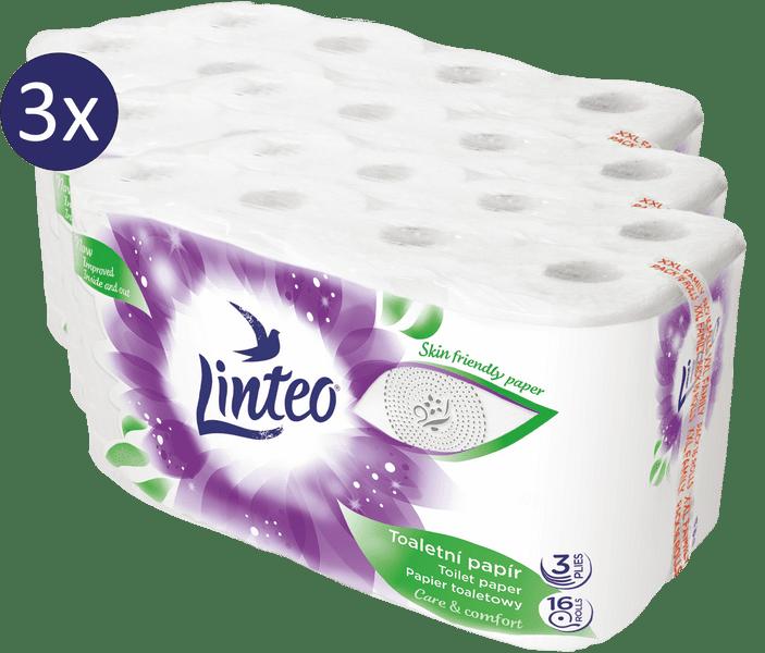 LINTEO Satin Toaletní papír 3 vrstvý 3 x 16 rolí