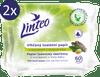 LINTEO Vlhčený toaletný papier s extraktom z dubovej kôry 2 × 60 ks splachovateľný