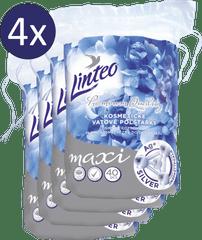 LINTEO Odličovací Polštářky Premium 4 × 40 ks Maxi SILVER