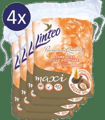 LINTEO płatki kosmetyczne Premium 4 × 40 szt. Maxi ARGAN OIL
