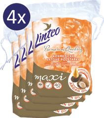 LINTEO Odličovací Polštářky Premium 4 × 40 ks Maxi ARGAN OIL