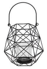 Marex Trade Závěsný kovový svícen se střední skleněnou nádobkou