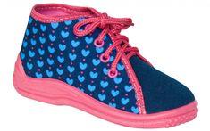Zetpol Dívčí bačkůrky Ania - modro-růžové
