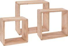 Marex Trade Sada 3 ks dřevěných dekorativních polic