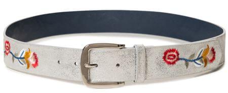 Desigual dámský pásek Belt Flower 85 stříbrná