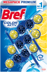 Bref čistilo za wc školjko Color Aktiv Lemon, 3 x 50 g