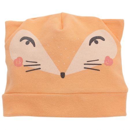 PINOKIO Detská čiapka s líškou 80 oranžová                                                                                                                                                                                                 Detská čiapka s