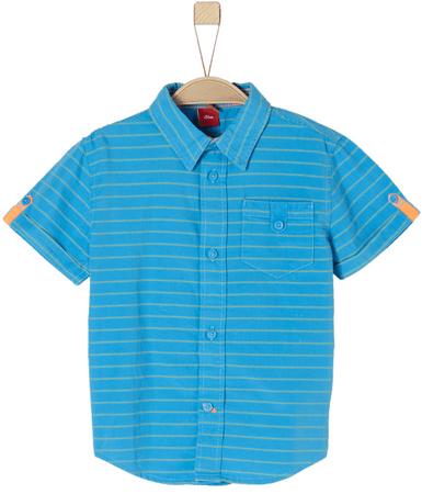 s.Oliver chlapecká košile 63.804.22.6379 116/122 modrá