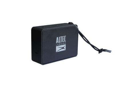 Altec Lansing One Bluetooth zvočnik 5W, vodoodporen AUX, črn