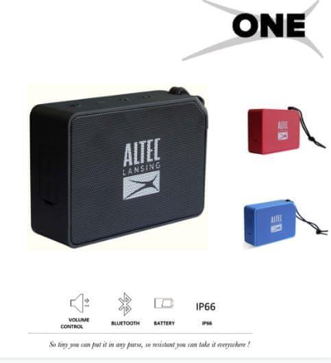 Altec Lansing One Bluetooth zvočnik, vodoodporen AUX