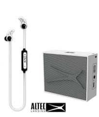 Altec Lansing Snake + Pocket, Bluetooth slušalke in zvočnik - komplet, bel