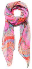 Desigual dámský růžový šátek Foul Soft Mandala