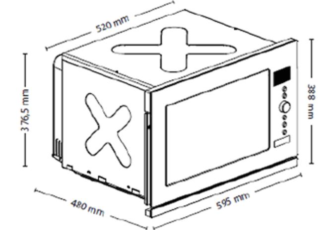 CASO vestavná mikrovlnná trouba EMCG 32