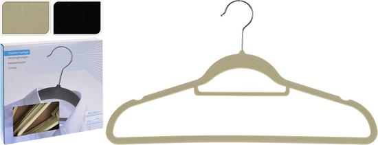 Koopman Sada 20 ks čiernych zamatových ramienok na šaty