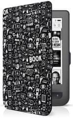 Connect IT Etui Doodle dla czytnika PocketBook 624/626, czarny