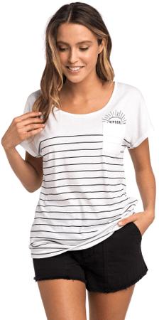 Rip Curl ženska majica Low Tide Tee, XS, bela