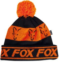 Fox Čepice Black Orange Lined Bobble