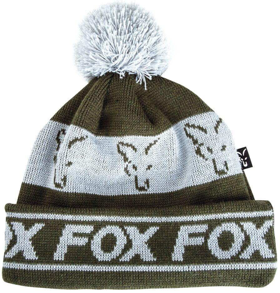 Fox Čepice Green Silver Lined Bobble