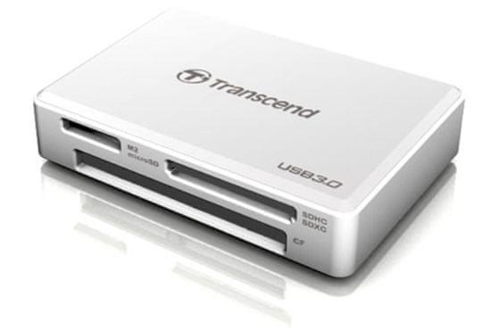 Transcend čitalec kartic RDF8, USB 3.1/3.0, micro USB v USB Type A, bel