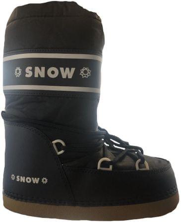 SNOW BOOT dětské zateplené sněhule 24-26 tmavě modrá