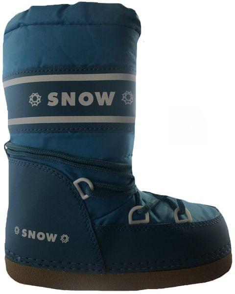 SNOW BOOT dětské zateplené sněhule 24-26 tmavě fialová 3b696fd84f