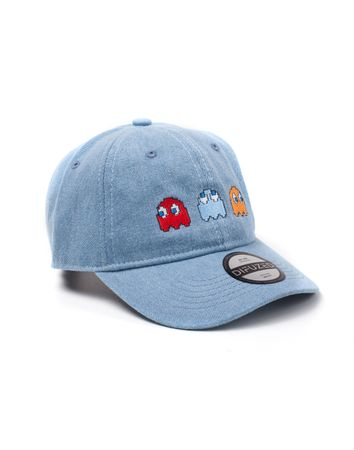 Kšiltovka Pac-Man - 2D Embroidery Stone Washed Denim