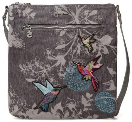 Desigual ženska torbica za čez rame Bols Wallpaper Kaua, temno siva