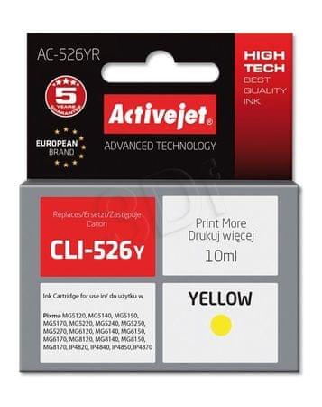 ActiveJet črnilo Canon CLI-526Y, rumeno