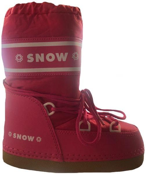 SNOW BOOT dětské zateplené sněhule 33-35 růžová červená 60117c193e
