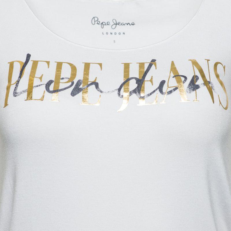 ... 3 - Pepe Jeans dámské tričko Mona XS biela 166810886a