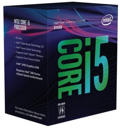 Intel procesor Core i5-8600 BOX, Coffee Lake
