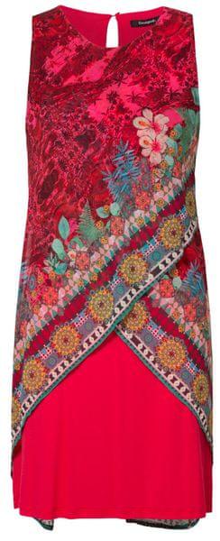 Desigual dámské šaty Vest Monique 38 červená d44f80f2156