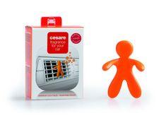 Mr&Mrs Fragrance Automobilová vůně, panáček do auta CESARE BOX, Energy - energie, oranžová barva