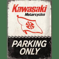 Postershop Plechová cedule: Kawasaki Parking Only