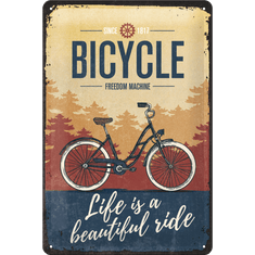 Postershop Plechová cedule: Bicycle (Freedom Machine)