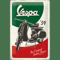 Postershop Plechová cedule: Vespa The Italian Classic