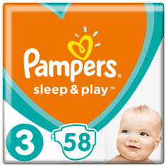 Pampers plenice Sleep&Play Economy 3 Midi, 3x 58 kosov