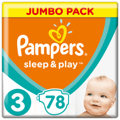 Pampers Sleep & Play 3 Jumbo Midi pelenka (6-10 kg) 78 db