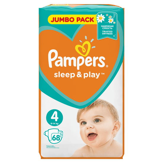 Pampers plenice Sleep & Play 4 Jumbo Pack (9-14 kg) 68 kosov