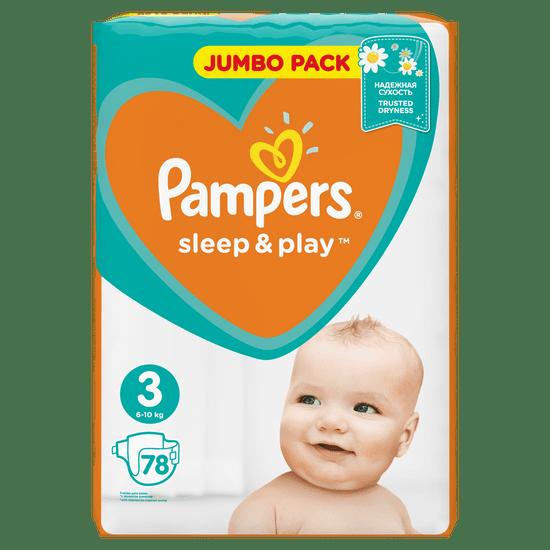 Pampers plenice Sleep & Play 3 Jumbo Midi (6-10 kg) 78 kosov