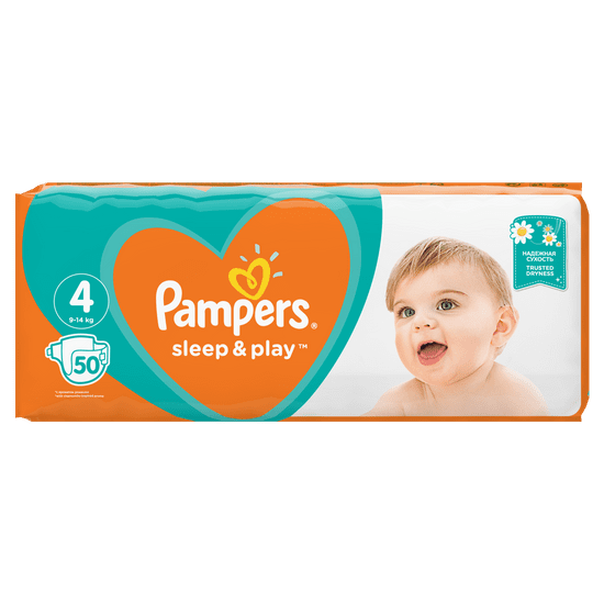 Pampers plenice Sleep & Play 4 Maxi (9-14 kg) 150 kosov (3x50 kosov)