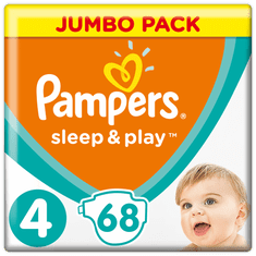 Pampers Pelenka Sleep & Play 4 Jumbo Pack (9-14 kg) 68 db