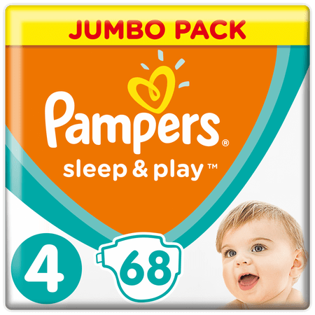 Pampers Sleep & Play Jumbo Pack S4 68ks