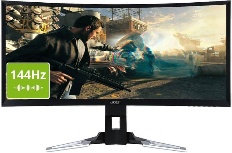 """Acer XZ350CU zahnutý 35"""" herní LED monitor (UM.CX0EE.001)"""