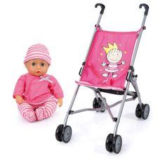 Bayer Design lutka z otroškim vozičkom in dodatki