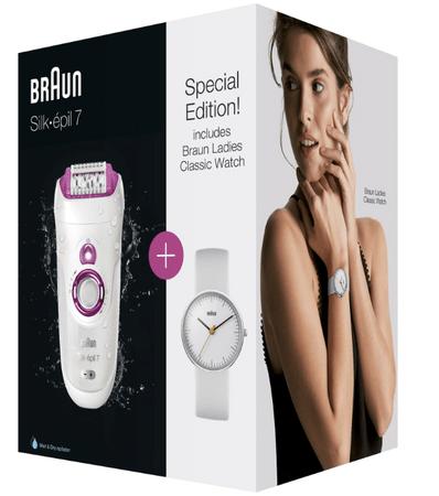 Braun epilator Silk-épil 7–521 + darilo (ženska ura)